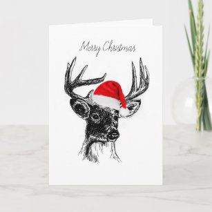 whitetail deer christmas cards zazzle - Deer Christmas Cards