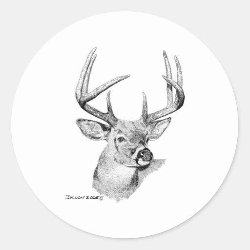 Whitetail Deer Classic Round Sticker