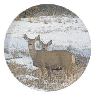 Whitetail Deer Dinner Plate