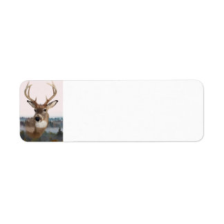 Whitetail Deer Double Exposure Address Labels