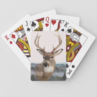 Whitetail Deer Double Exposure Playing Cards