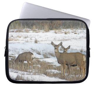 Whitetail Deer Family Laptop Sleeve