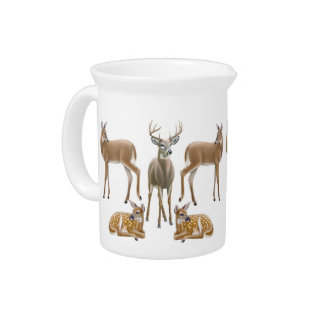 Whitetail Deer Family Pitcher
