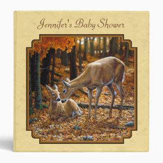 Whitetail Deer Fawn & Doe Yellow Binder