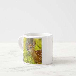 Whitetail deer fawn in Whitefish, Montana, USA Espresso Cup