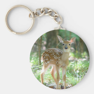 Whitetail Deer Fawn Keychain