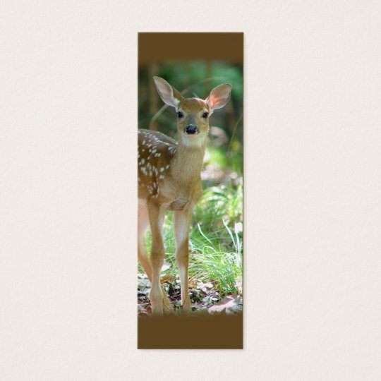 Whitetail Deer Fawn Mini Bookmark / Mini Business Card