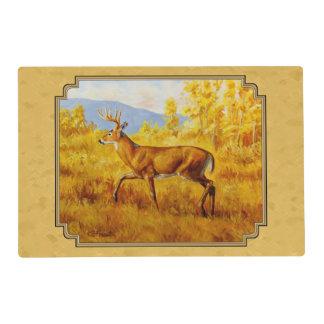 Whitetail Deer Golden Aspen Woods Placemat