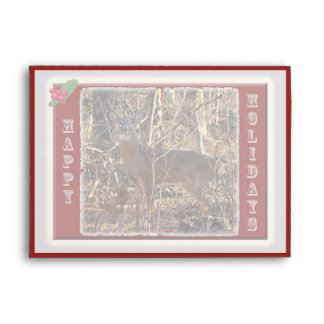 Whitetail Deer Happy Holidays Items Envelope
