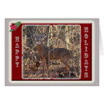 Whitetail Deer Happy Holidays Items Greeting Card