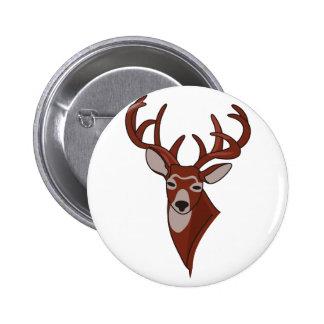 Whitetail Deer Head Button