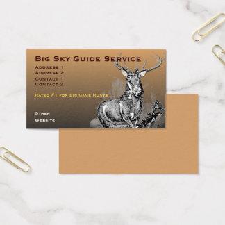 Whitetail Deer Illustration Business Card