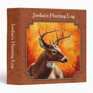 Whitetail Deer in Autumn Reddish Brown 3 Ring Binder