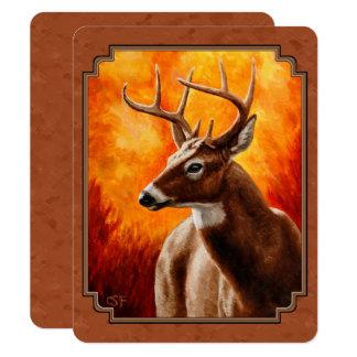 Whitetail Deer in Autumn Reddish Brown Card