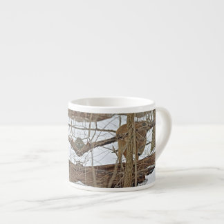 Whitetail Deer In Snow Espresso Cup