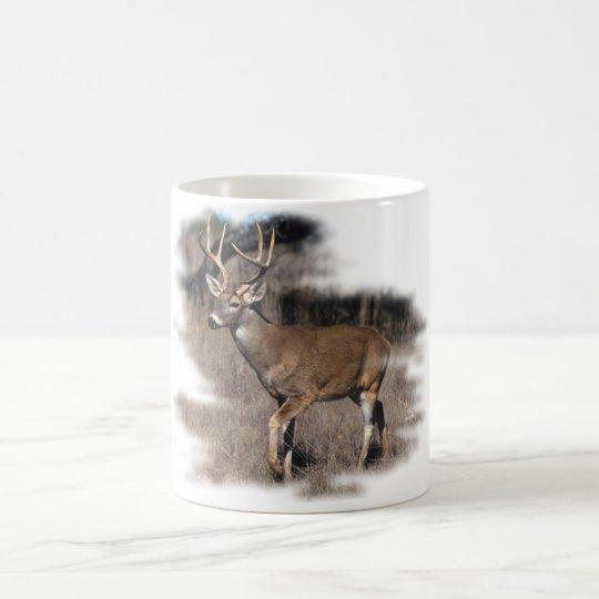 Whitetail deer in the field coffee mug