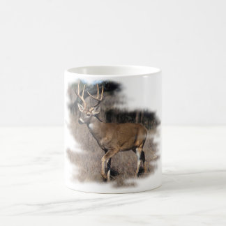 Whitetail deer in the field coffee mugs