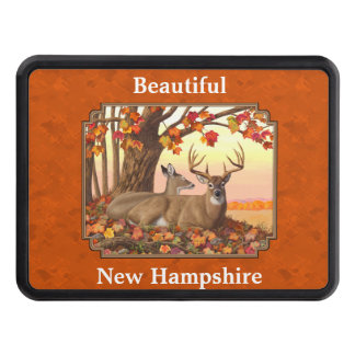Whitetail Deer Maple Tree Autumn Orange Hitch Cover