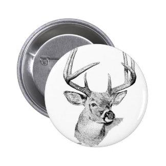 Whitetail Deer Pinback Button