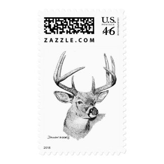 Whitetail Deer Postage Stamps