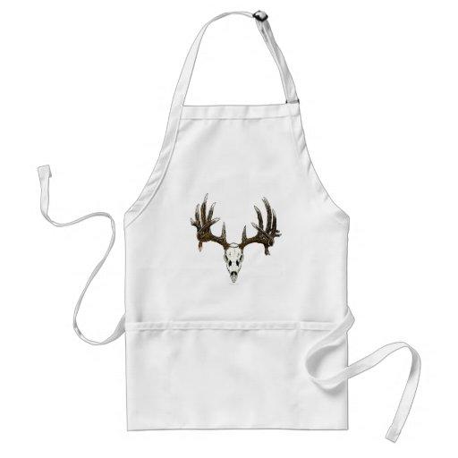 Whitetail deer skull 1 apron