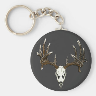 Whitetail deer skull 1 keychain