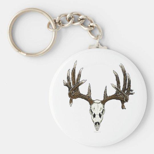 Whitetail deer skull 1 keychain