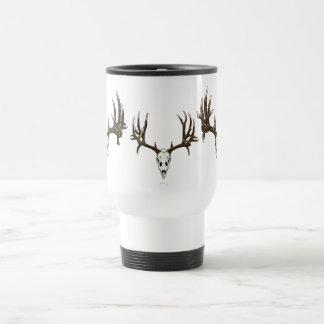 Whitetail deer skull 1 15 oz stainless steel travel mug