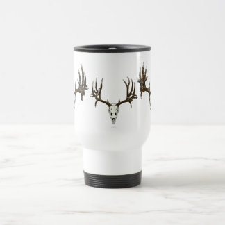 Whitetail deer skull 1 travel mug