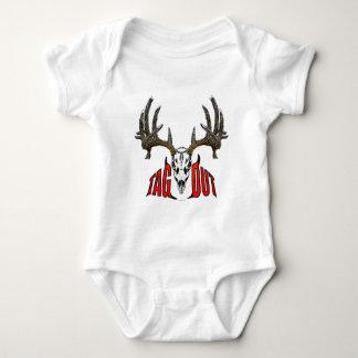Whitetail deer skull baby bodysuit