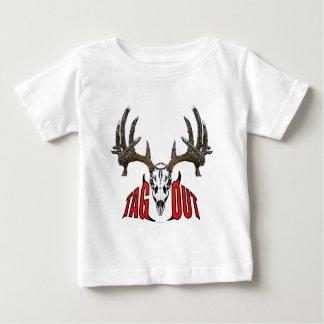 Whitetail deer skull baby T-Shirt