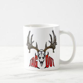 Whitetail deer skull coffee mug