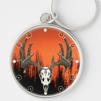 Whitetail deer skull key chains