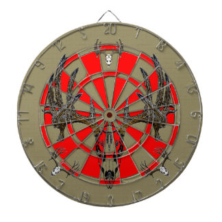 Whitetail deer skull vintage 2 dart board