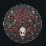 """Whitetail deer skull vintage dart board<br><div class=""""desc"""">Whitetail deer skull vintage</div>"""