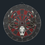 "Whitetail deer skull vintage dart board<br><div class=""desc"">Whitetail deer skull vintage</div>"