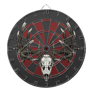 Whitetail deer skull vintage dart board