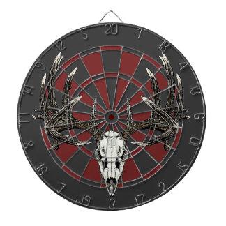 Whitetail deer skull vintage dart board
