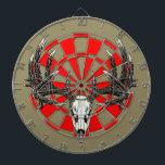 """Whitetail deer skull vintage dartboard<br><div class=""""desc"""">Whitetail deer skull vintage</div>"""