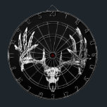 "Whitetail deer skull w dartboard<br><div class=""desc"">Whitetail deer skull</div>"