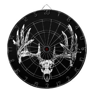 Whitetail deer skull w dartboard with darts