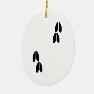 Whitetail Deer Tracks Ceramic Ornament