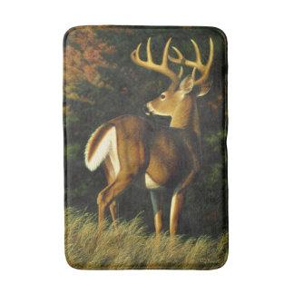 Whitetail Deer Trophy Buck Hunting Bathroom Mat