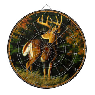 Whitetail Deer Trophy Buck Hunting Dartboard With Darts