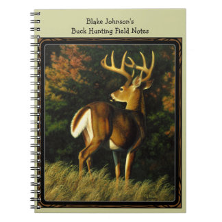 Whitetail Deer Trophy Buck Hunting Notebook