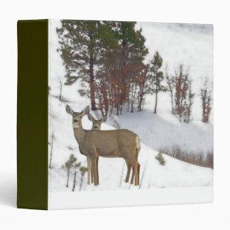 Whitetail Deer Wildlife Animals Fawns 3 Ring Binder