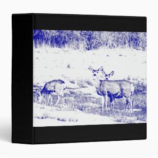 Whitetail Deer Wildlife Animals Fawns Binder