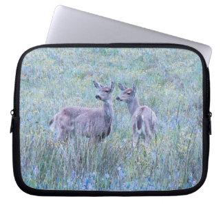 Whitetail Deer Wildlife Animals Fawns Laptop Sleeve