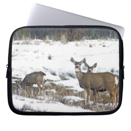 Whitetail Deer Wildlife Animals Fawns Laptop Sleeve