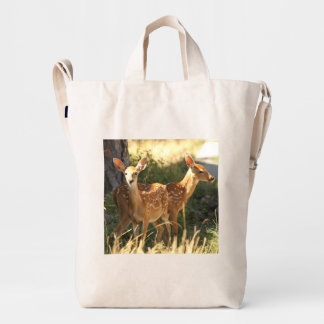 Whitetail fawn twins duck bag